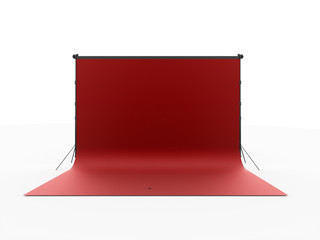 Red photo stage isolated