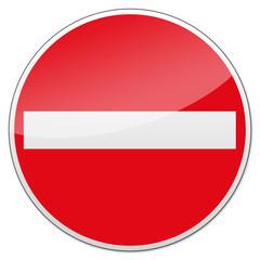 Verbotsschild - Einfahren verboten