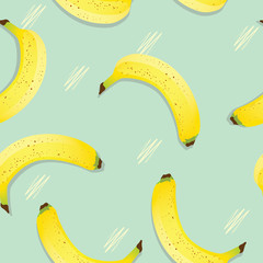 vintage banana seamless background