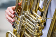 Golden tuba detail