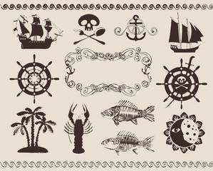 design elements to the marine theme