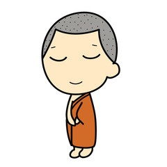 cute Buddhist Monk