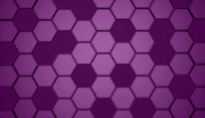 Purple hexagonal background