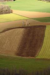 Felder im Winter