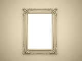 Yellow mirror frame
