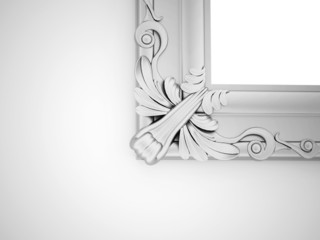 Silver vintage mirror frame