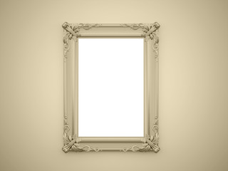 Yellow mirror frame