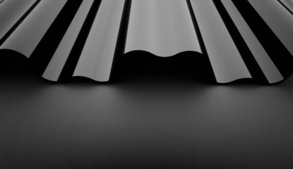 Black abstract wave background