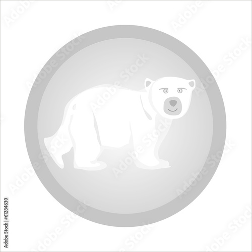 bear white logo in a gray circle
