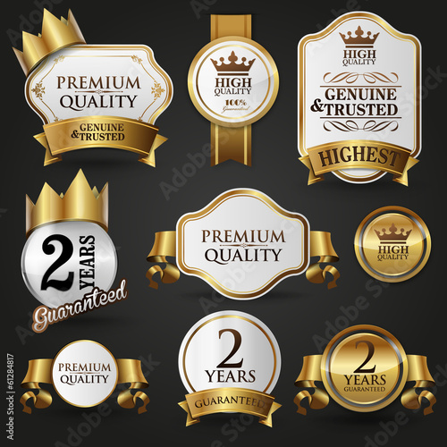 gold guaranteed and luxury badges