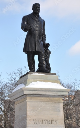 Statue of Sir James Pliny Whitney in Queen's Park, Toronto