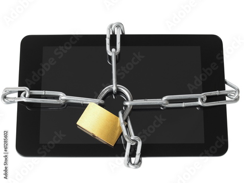 Locked tablet
