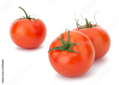 Ripe Tomato isolated on white background