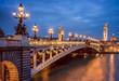 Leinwanddruck Bild - Pont Alexandre III in Paris