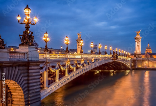 Papiers peints Con. Antique Pont Alexandre III in Paris