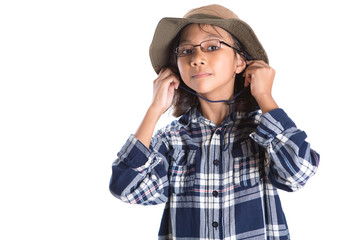 Young Girl With Shirt And Hat