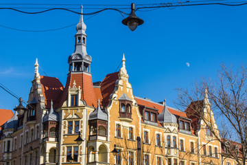 Eclectic tenement in Gliwice, Silesia region,