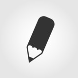 Pencil icon, flat design