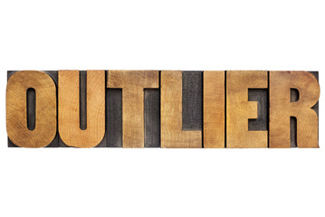 outlier word in wood type