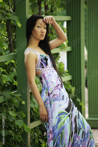 Beautiful Asian fashion model