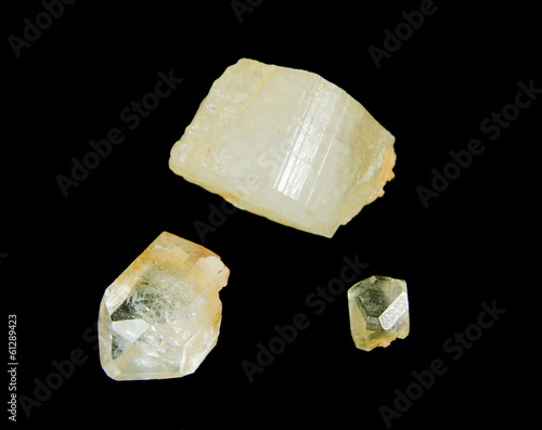 Rough topaz crystals