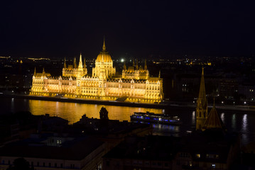 Historic parliament of Hungary in Budapest