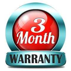 three month warranty