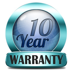 ten year warranty