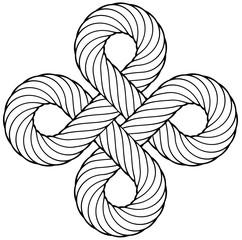 Nodo quadrato in corda