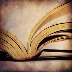 Opened book,grunge image
