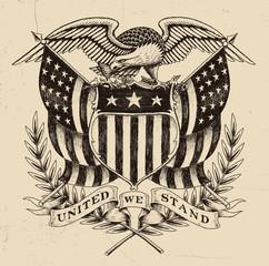 Hand Drawn American Eagle Linework