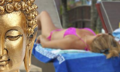 concept vacances zen, bien-être et relaxation