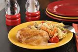 Chicken with pasta salad