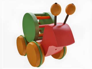 Colorful Toy Snail in 3D