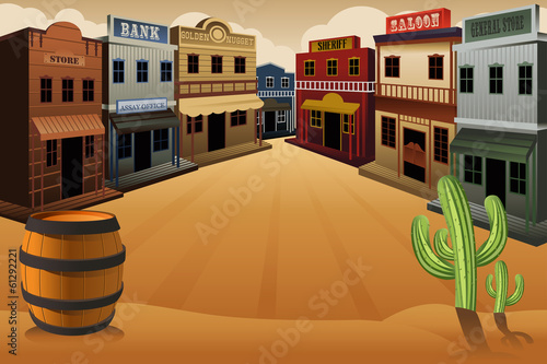 Old western town - 61292221