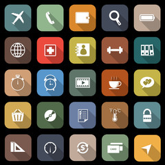 Application flat icons with long shadow. Set 2