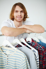 Man and shirts