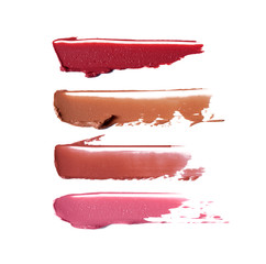 Collection of smudged lipsticks