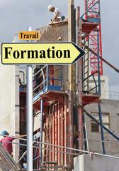 concept travail formation embauche chantier