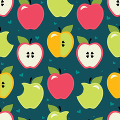 Apple. Seamless pattern.