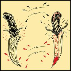 Daggers oldskool Tattoo style