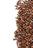 Closeup of coffee beans background. Roasted Coffee Beans backgro