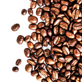 Roasted Coffee Macro Background. Arabica Coffee Beans background