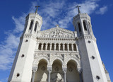 The Basilica of Notre-Dame de Fourviere in Lyon