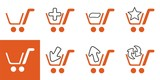 Orange shopping web icons