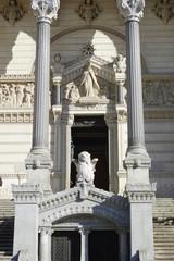 Entrance to the Basilica of Notre-Dame de Fourviere in Lyon