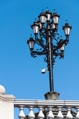 Beautiful street lamp against the sky