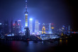night view at shanghai china