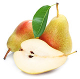Pears with slice isolated.