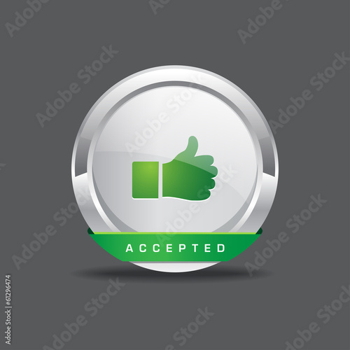 Accepted Vector Icon Button